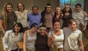 Feliciano Sanchez Chan with UDLAP students